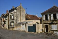 Wir, Frankreich - 14. März 2016: malerisches Dorf im Winter Stockfotografie