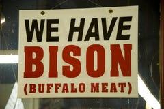 Wir haben Bison Stockfoto
