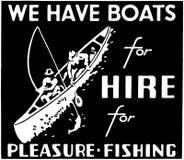 Wir haben Boote für Miete Stockbild