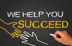 Wir helfen Ihnen zu folgen Lizenzfreie Stockfotos