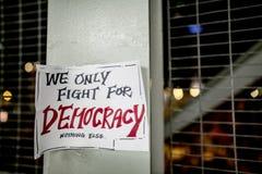 Wir kämpfen nur für Demokratie Lizenzfreie Stockbilder