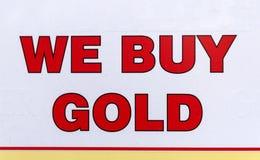 Wir kaufen Gold Lizenzfreie Stockfotografie