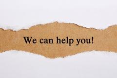 Wir können Ihnen helfen Stockbilder
