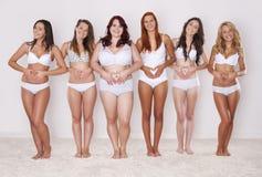Wir lieben unsere Körper Stockfoto