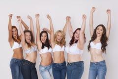 Wir lieben unsere Körper Lizenzfreies Stockbild
