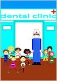 Wir lieben unseren Zahnarzt Stockbild