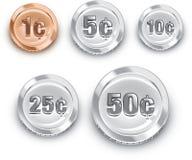 Wir Münzen lizenzfreie abbildung