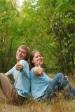 Wir sind sehr glücklich! Lizenzfreie Stockfotografie