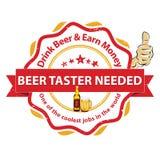 Wir stellen Bier-Schmecker ein Stellenangebote Lizenzfreie Stockfotos