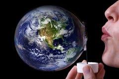 Wir stellen die Welt durch uns selbst her Stockfoto