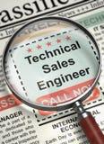 Wir stellen technischen Vertriebsingenieur ein 3d Lizenzfreies Stockfoto