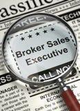 Wir stellen Vermittler Sales Executive an 3d Lizenzfreies Stockfoto