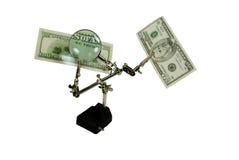 Wir vertrauen Geld Stockbild