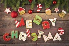 Wir wünschen Ihnen frohen Weihnachten stockfoto