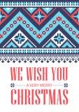 Wir wünschen Ihnen sehr frohen Weihnachten glückliches neues Jahr 2007 Nationale Verzierung Verschiedene Varianten der Farbe sind Stockbild