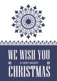 Wir wünschen Ihnen sehr frohen Weihnachten glückliches neues Jahr 2007 Nationale Winterverzierung Vektormusterschneeflocke lizenzfreie abbildung
