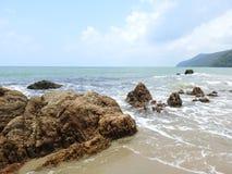 Wir zatoki plaża fotografia stock