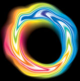 Wirbelnde flüssige klare Regenbogenoberflächenfarben des Vektors Lizenzfreie Stockfotos