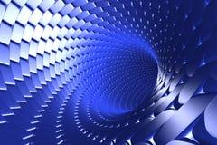 Wirbelnder blauer Tunnelauszug stockfotos
