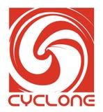 Wirbelsturm-Tornado-Konzept-Logo Stockfotografie