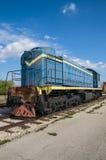 Wird die dieselelektrische Lokomotive TEM2, die durch die Kharkov-Transport-Maschinerieanlage hergestellt wird, beim AvtoVAZ tech stockfotos