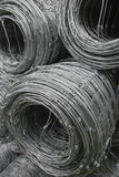 Wire. Galvanized barbed wire as background Stock Image