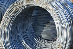 Wire. Wire metal with corrosion for armature in bays Royalty Free Stock Photography