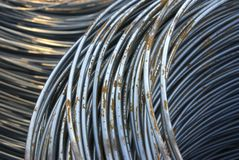 Wire. Wire metal with corrosion for armature in bays Stock Photography