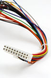 Wire. 20 Pin wire cable made of set of multi-coloured wires Royalty Free Stock Photography
