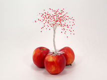 Wire apple tree Stock Images