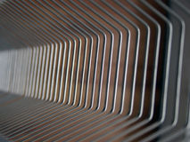 Wire array background. Linear steel wire texture in perspective Royalty Free Stock Image