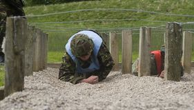 Wire assault course stock photography