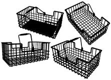 Wire Basket Stock Image