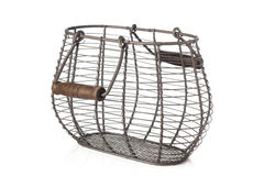 Wire basket for eggs Royalty Free Stock Photo