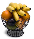 Wire Basket Full of Fruit Royalty Free Stock Image