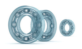 Wire bearing design, isolated Royalty Free Stock Photos