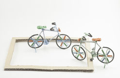 Wire bicycle model Royalty Free Stock Photos