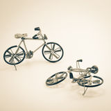 Wire bicycle model and shadow Royalty Free Stock Photos