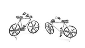 Wire bicycle model on white background Stock Images