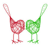 Wire Birds Royalty Free Stock Image