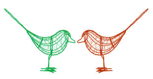 Wire Birds Royalty Free Stock Images