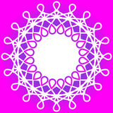 Wire border round frame Royalty Free Stock Photography