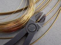 Worekshop - Wire brass Royalty Free Stock Photography