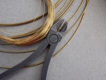 Wire brass Stock Photo