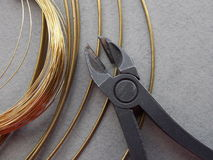 Wire brass Royalty Free Stock Photos