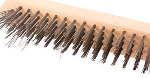 Wire brush for cleaning metal Stock Photography