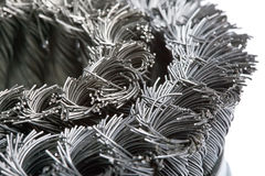 Wire brush for metal processing.Close up Royalty Free Stock Photo
