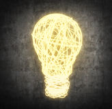 Wire bulb Royalty Free Stock Photos