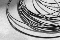 Wire and cable black and white image Stock Photo