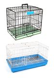Wire cage and sheet for tiny pet. Isolated on white background Royalty Free Stock Photos